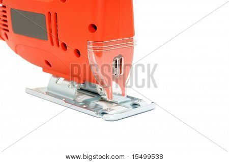 Electric fret saw isolated on a white background