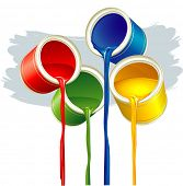 stock photo of paint brush  - Paints - JPG