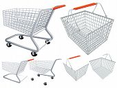 picture of cart  - Shopping cart and basket - JPG