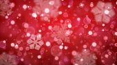 Christmas Background Of Fuzzy And Blurred Snowflakes poster