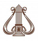 Постер, плакат: Музыкальные арфы изолированные на белом для дизайна JPEG версия также доступна