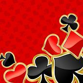 Poker background with symbols of cards for design. Jpeg version also available