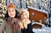 stock photo of winter scene  - Children - JPG