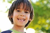 stock photo of tooth gap  - First day to go in school - JPG