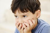 stock photo of pre-teen boy  - Autism - JPG