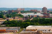 image of knoxville tennessee  - View of the University of Tennessee campus Knoxville Tennessee - JPG