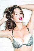 Pretty Girl In Bra Isolated poster