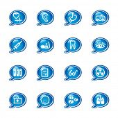 bubble medicine icons