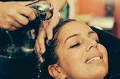 Washing Hair In Beauty Salon poster