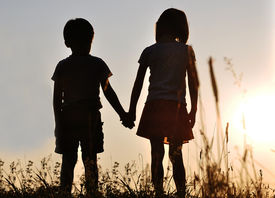 picture of male female  - Two children - JPG