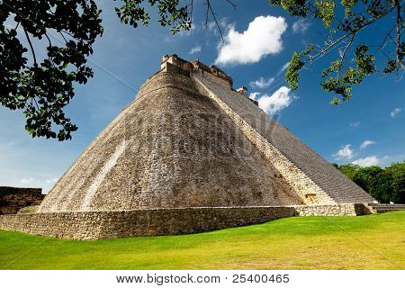 Adivino Pyramid in Uxmal, Mexico