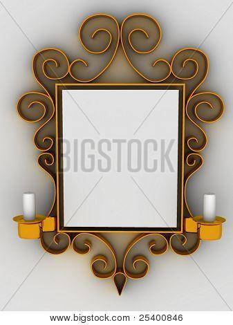 Quadro abstrato, ornamento