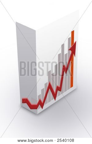 White Box Container With Graph Chart