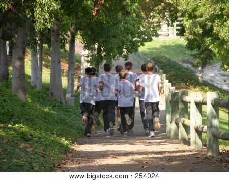 Team Of Joggers