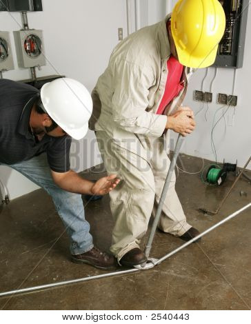 Electrician & Supervisor Bend Pipe