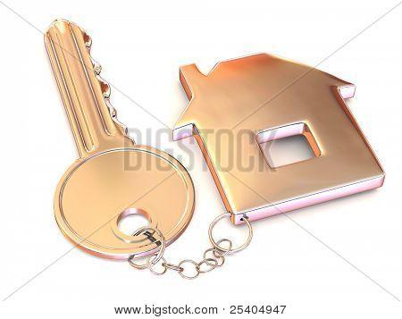 key with trinkets. 3d