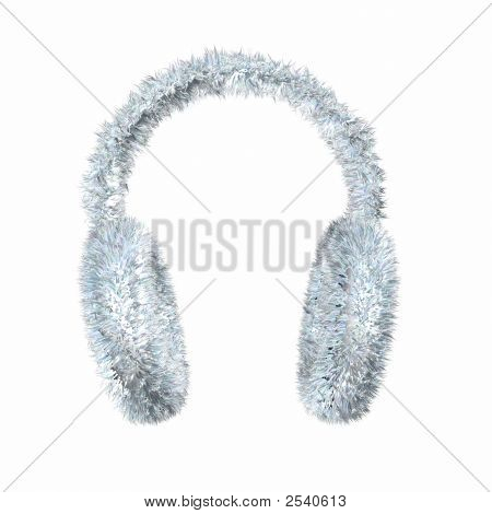 Render Of Snowe White Furry Winter Earmuffs