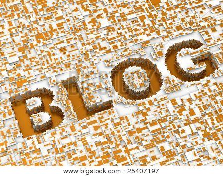 Blog. Background. 3d