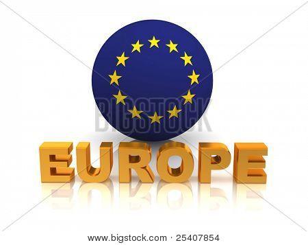 Symbol of Europe. 3d