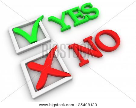 Yes or No. Questionnaire. 3d