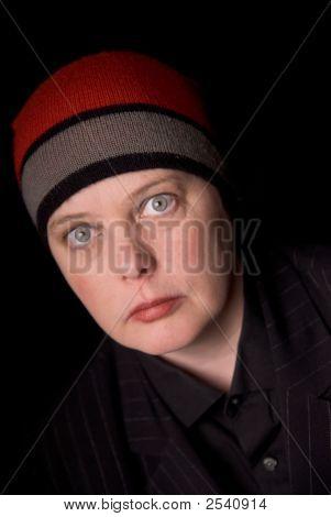 Woman In Knit Hat