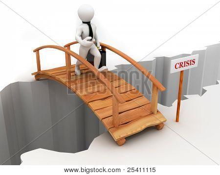 crisis de puente. 3D