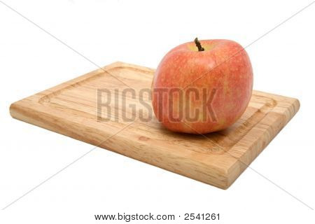 York Apple On Cutting Board 2