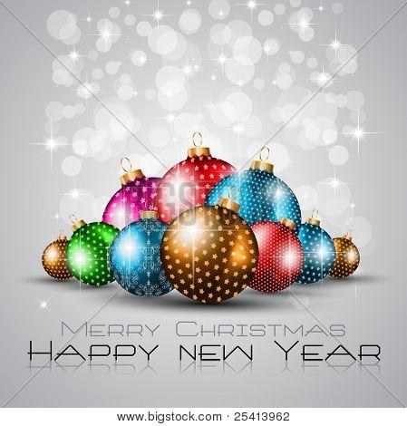 Fundo de saudações elegante para panfletos ou brochura para o Natal ou ano novo eventos com um monte de s