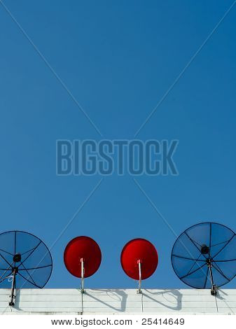 Two Type Satellite Dish Vertical