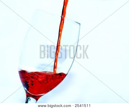 Red Glass Pour