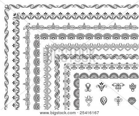 Set of border elements design.