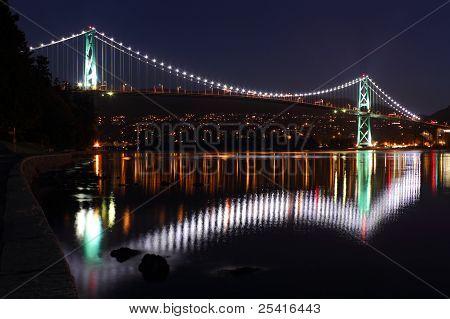Lions Gate Bridge Lights, Vancouver