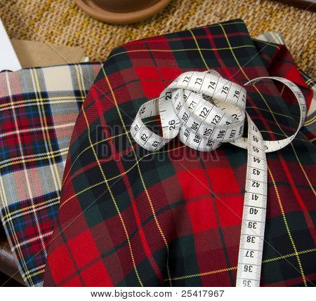 Measuring tape on the fabric