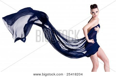 Elegance Woman In Chiffon