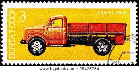 Soviet Gaz-51 Truck In Profile