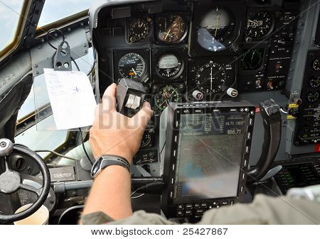Pilot Steering A Plane