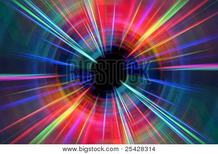 Colorful abstract background of lasers / rays