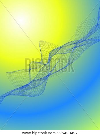 Vector of complex wireframe background