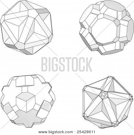 Vector set of geometric objects