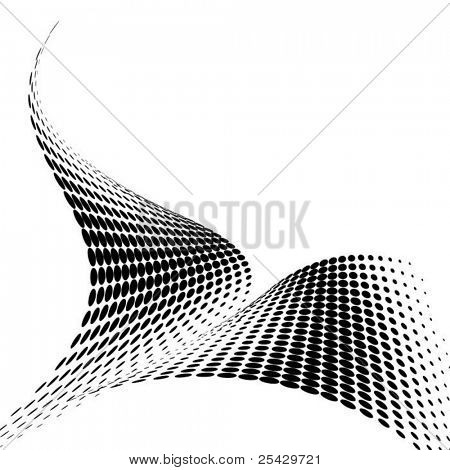 abstract black vector dots background
