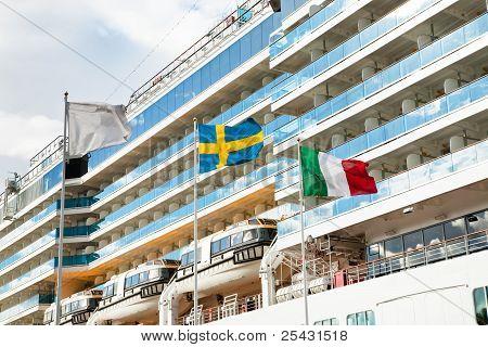 Cruise Liner In Stockholm Port