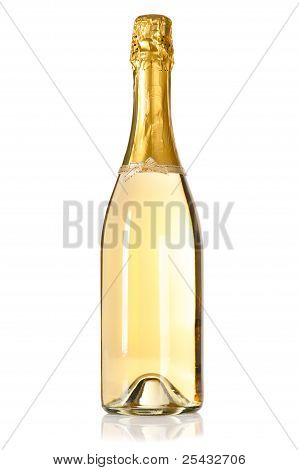 Champagne Bottle With Decoration Bow