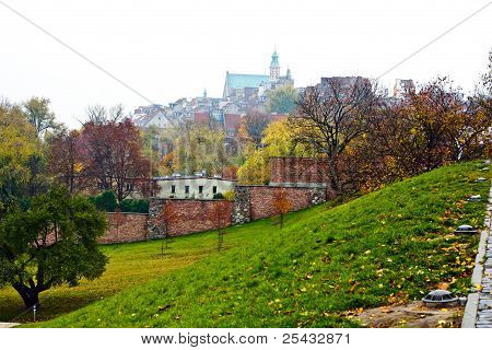 Interesting View Of The Old City Of Warsaw. Poland