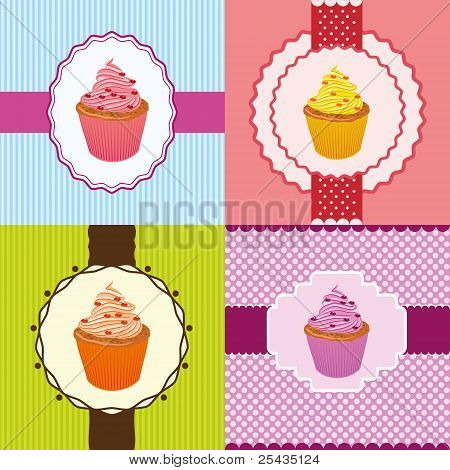 Cupcake Invitation Cards
