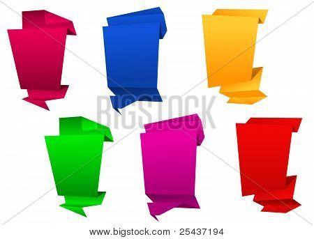 Banners de Origami vertical
