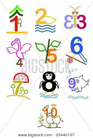 Number 1 - 10