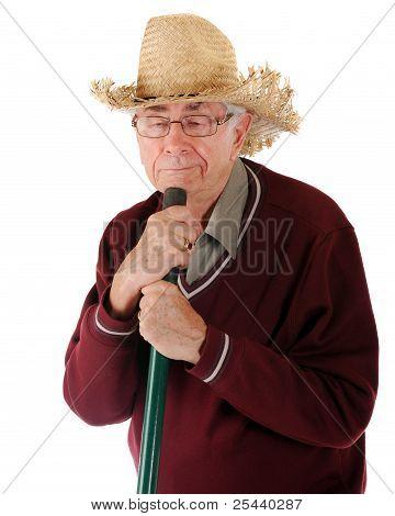 Weary Senior Gardener