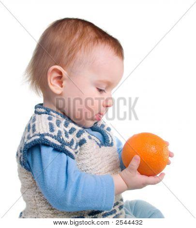 Boy And Fresh Rustic Orange