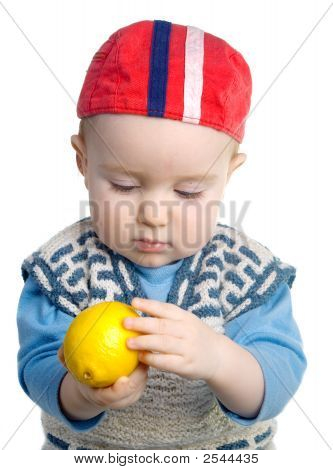 Boy And Fresh Rustic Lemon