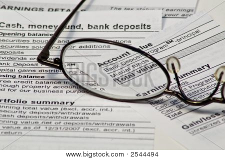 Monthly Financial Statement